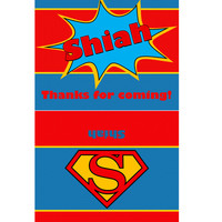Superman inspired Hershey chocolate bar 1,55oz wrap label. Birthday party labels. Hershey printable.