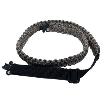 Adjustable Paracord Rifle Gun Sling Strap with Swivel,CAMO Gun Sling Swivel 2 pcs 1'' gun sling
