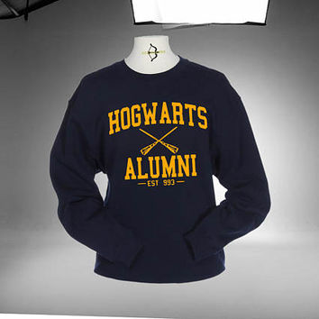 Harry Potter Hogwarts Alumni Sweatshirt Navy Color Unisex Sweatshirts