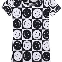 "ROMWE | Color Block ""Smiling Face"" T-shirt, The Latest Street Fashion"
