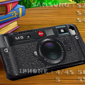 Leica M9 Black Camera For iphone 4 iphone 5 samsung galaxy s4 / s3 / s2 Case Or Cover Phone.