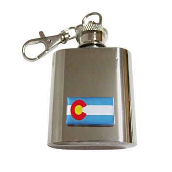 Colorado State Flag Pendant Keychain Flask