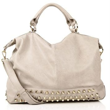 Stone Studded Bottom Handbag
