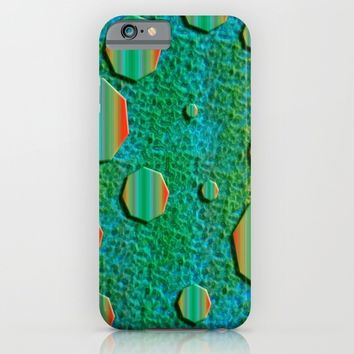 Celestial Octagon Orbs of Planet Uranus iPhone & iPod Case by Distortion Art