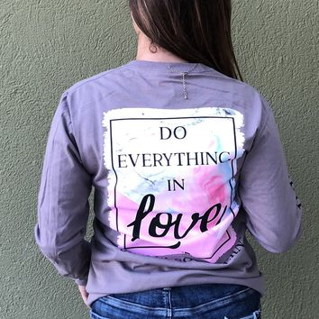 Simply Southern Do Everything In Love Tee- Grey