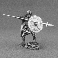 Handmade Military Soldier VIKING Spear warrior toy figurine 1/32 scale  metal toy figures tin 54mm medieval knight collectible Gift