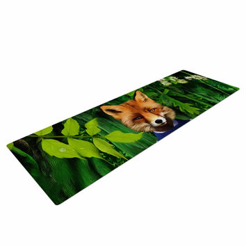 "Natt ""Into The Leaves N7"" Green Fox Yoga Mat"