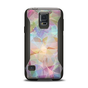 The Abstract Geometric Subtle Colored Connect Blocks Samsung Galaxy S5 Otterbox Commuter Case Skin Set
