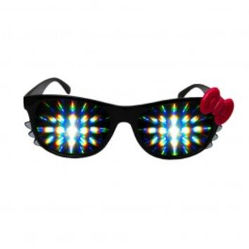 Kitty Clear Diffraction Glasses