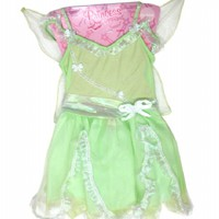Girls Green Pixie Fairy Dress with Wings