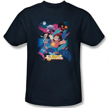 Steven Universe and Crystal Gems Adult Navy T-Shirt | CartoonNetworkShop.com