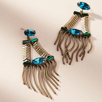 Greenwich Fringed Drop Earrings