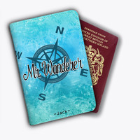 Mr Wanderer Marble Leather Passport Covers Passport Holder