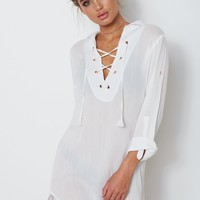 Dreamstate Shirt Dress White