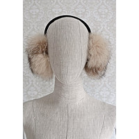 Vintage Natural Fox Fur  Fluffy Ear Warmers