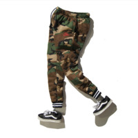 Military fashion brand camouflage velvet thickening movement Wei pants tide students autumn and winter harem pants long pants