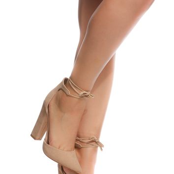 Nude Faux Suede Chunky Pointed Toe Heels @ Cicihot Heel Shoes online store sales:Stiletto Heel Shoes,High Heel Pumps,Womens High Heel Shoes,Prom Shoes,Summer Shoes,Spring Shoes,Spool Heel,Womens Dress Shoes