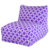 Purple Links Bean Bag Chair Lounger