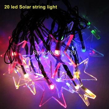 5set 20 led solar light outdoor string lights for garden solar fairy string lights for outdoor homes Christmas party