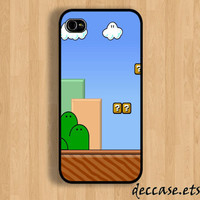 IPHONE 5 CASE Nintendo Game Mario Background iPhone case iPhone 4 case iPhone 4s caseHard Plastic Case Rubber Case