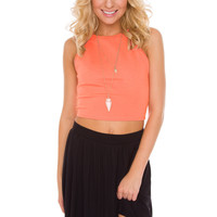 Holland Crop Top in Coral