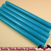 Blue Mini Hot GLUE STICKS / Deco Sauce / Fake Icing / Nail Art Stick / Faux Wax Seals