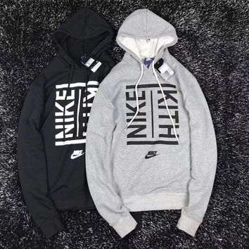 DCCKW2M NIKE X KITH Women Fashion Drawstring Long Sleeve Top Sweater Pullover Hoodie