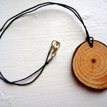 Wooden necklace, wood necklace jewelry, painted wooden necklace pendant, long wooden necklace, chunky wood necklace