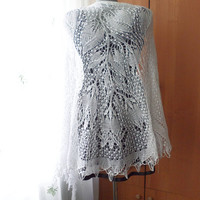 Bridal Cover Up White Shawl Cotton Wrap Summer Bridal Shawl Wedding Lace Cape White Wedding Cape Bridal Capelet Snow White Wrap Summer Shawl