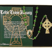 4 Celtic Cross Rosaries - Gift Box Included