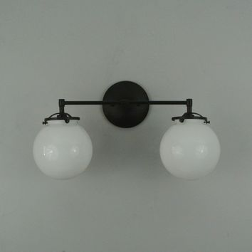 Double Glass Globe Wall Sconce