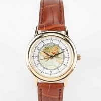 Globe Watch- Brown One