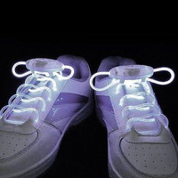 White LED Shoe Laces for Edc, Ultra, Music Festival, Concerts, Clubs, Coachella, EDM