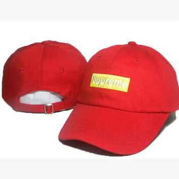 Perfect Supreme Women Men Embroidery Baseball Cap Hat Sport Sunhat