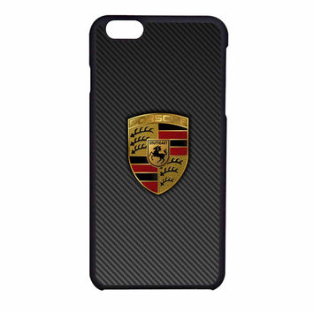 Porsche Logo Carbon iPhone 6 Case