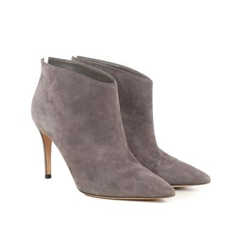 Gianvito Rossi Grey Suede Booties