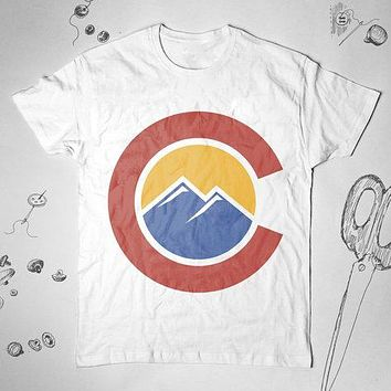 Colorado Mountains Sunset Hiking Unisex Tunic Shirt Top Blouse