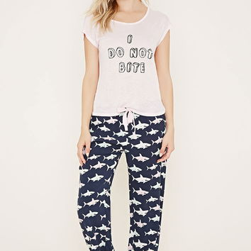 Shark Print PJ Set | Forever 21 - 2000170167