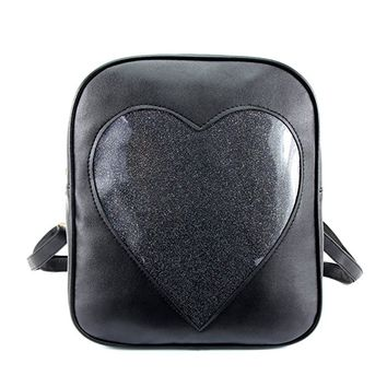 Clear Candy Backpacks Transparent Love Heart School Bags for Teen Girls Kids Purse Ita Bag