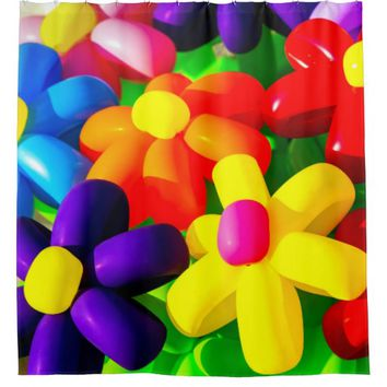 Toy Balloon Flowers Shower Curtain