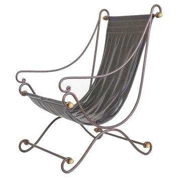 Wrought Iron Sling Chair