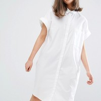 Monki Short Sleeved Shirt Dress at asos.com