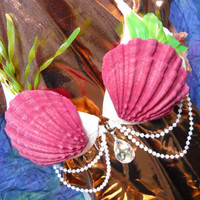 Soft Mermaid Seashells set of 2 by MythandMagic on Etsy