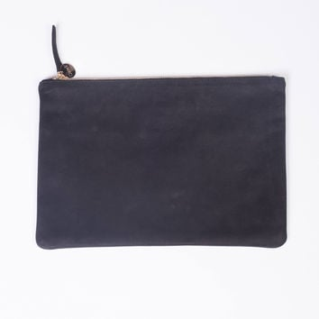 Core Maison Flat Clutch Black Nubuck