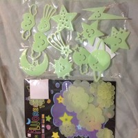 Kawaii Glow in the Dark Stars & Flowers Lot *2 Pack