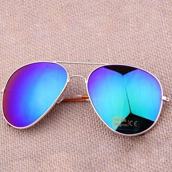 Blue Vintage Polarized Sunglasses
