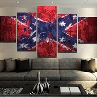 Modern Confederate Flag Canvas Set