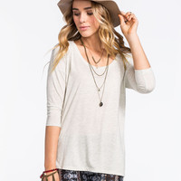 Full Tilt Essential Must Have Womens Tee Oatmeal  In Sizes