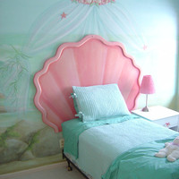 Mermaid Shell Headboard and Custom Bulletin Board