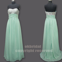 formal long prom dress mint green dress green prom by okbridal